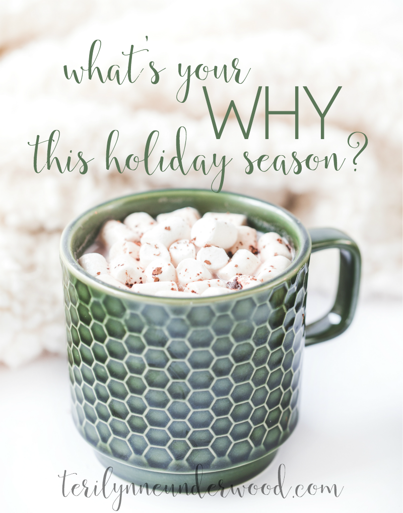 What's Your WHY? Living Your Priorities this Christmas