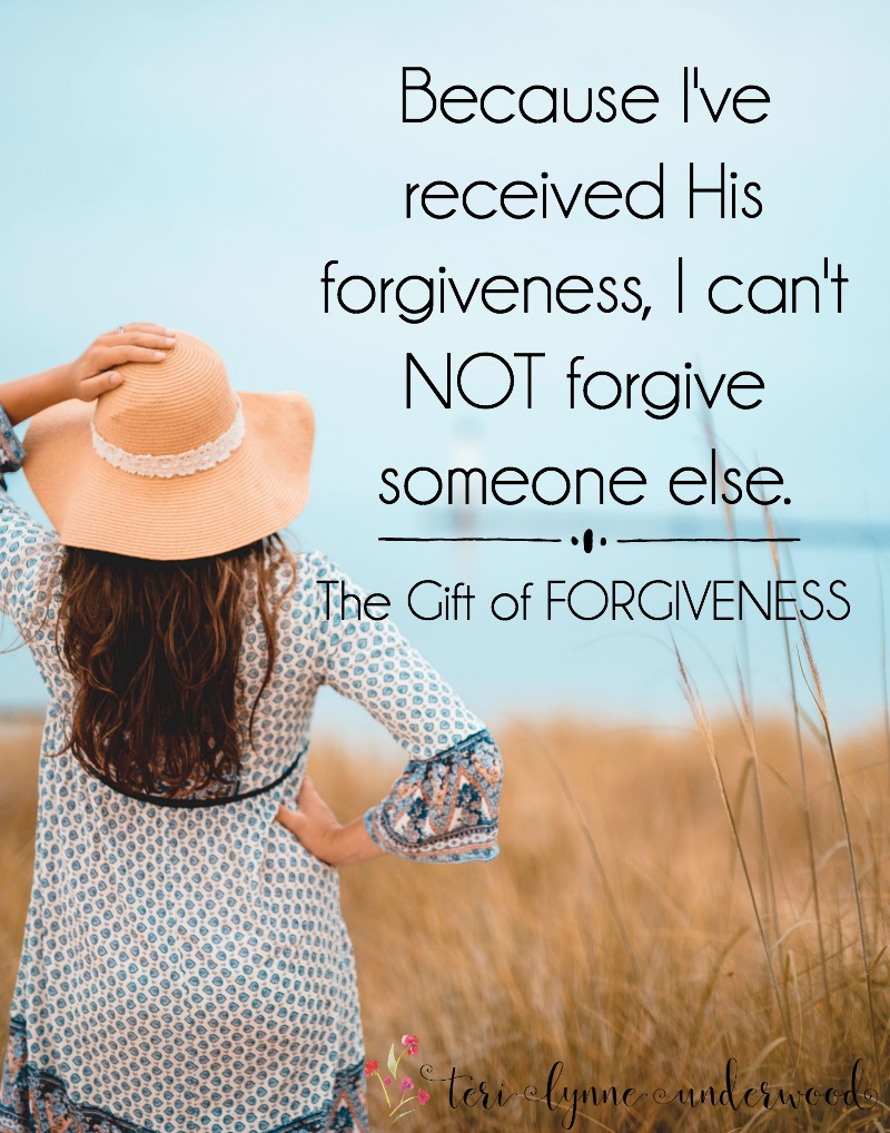 We forgive because we've been forgiven. Period. The truth is, no one has ever sinned against me more than I've sinned against God. And because I've received His forgiveness, I can't NOT forgive someone else.