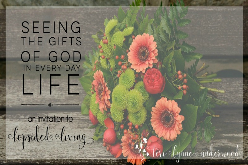 Seeing the gifts of God in every day life: an invitation to lopsided living. Spend October noticing all God is doing in, for, through, and around you.