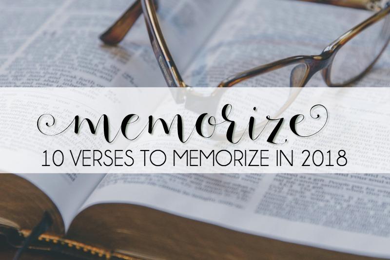 10 Verses to Memorize in 2018