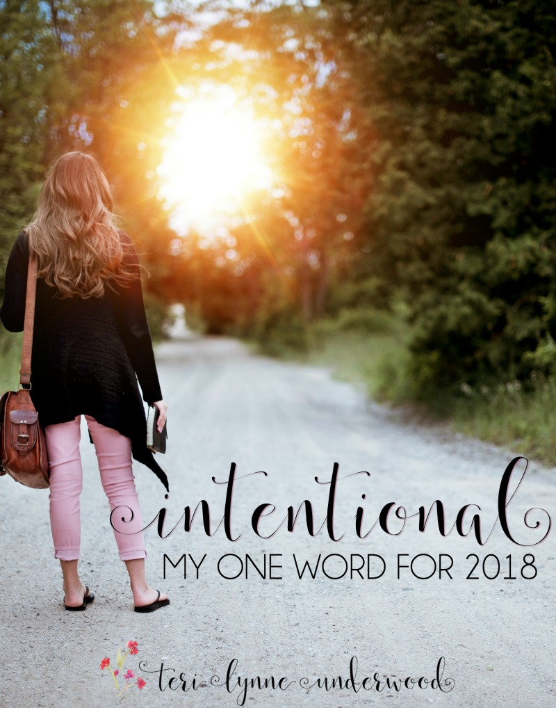 INTENTIONAL: My One Word for 2018