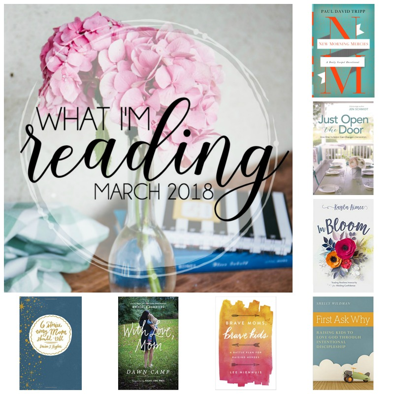 What I'm Reading {March 2018} — find out what is currently in Teri Lynne's book stack and check out her suggestions for books for moms (Mother's Day is coming!). Books by authors including Shelly Wildman, Denise J. Hughes, Kayla Aimee, Jen Schmidt, and more!