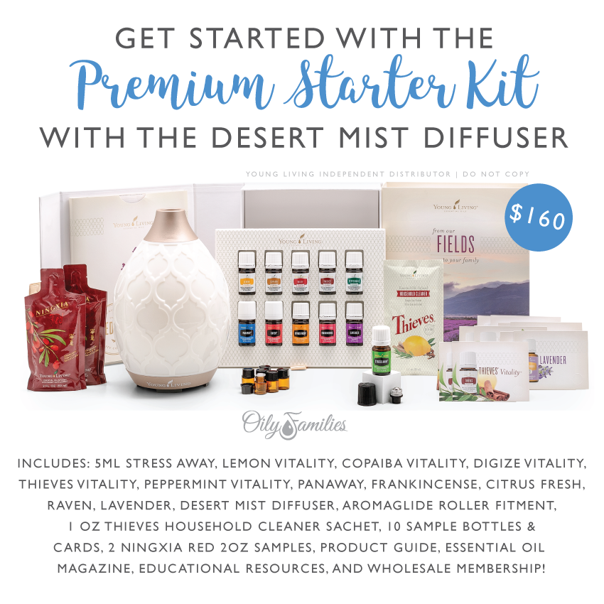 Young Living Personal Starter Kit with Desert Mist Diffuser