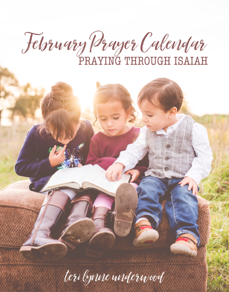 Join thousands of moms who are praying Scripture every day for their daughters! Get your February prayer calendar and pray through Isaiah with us! #girlmoms bit.ly/girlmoms