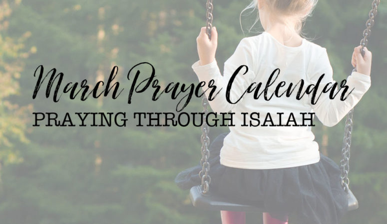 March Prayer Calendar Available Now!