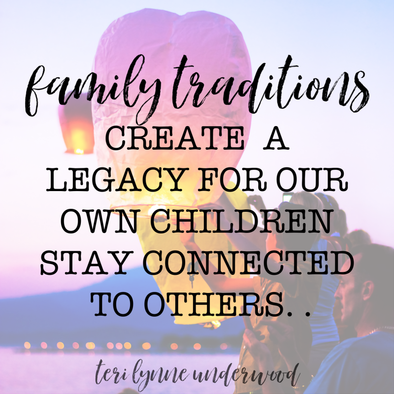 Family traditions are important for several reasons including they create opportunities for connection, for developing a family identity, and opportunities for hospitality.