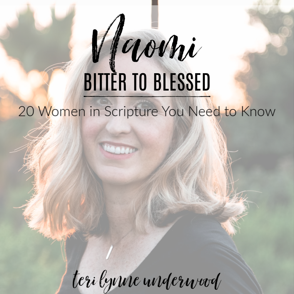 20 Women in Scripture You Need to Know    Naomi: Bitter to Blessed  Naomi isn't just a secondary character in Ruth and Boaz's great love story. We can learn a powerful lesson from Naomi about recovering when our faith is shattered.